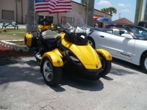 2009 CanAm Spider 3-wheel motorcycle