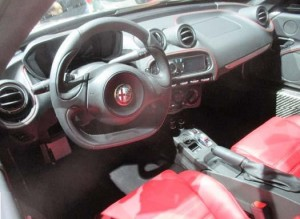 special edition alpha romeo 4c dash view