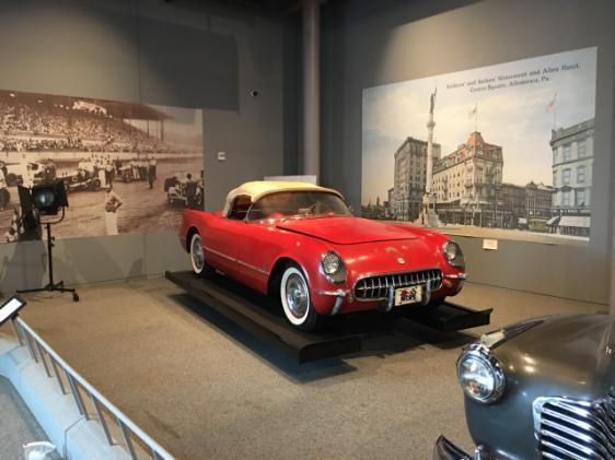 1954 Corvette, red #70